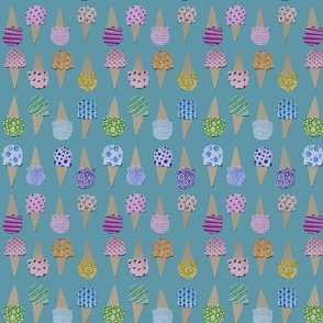 Sweet Pattern Ice Cream Cones