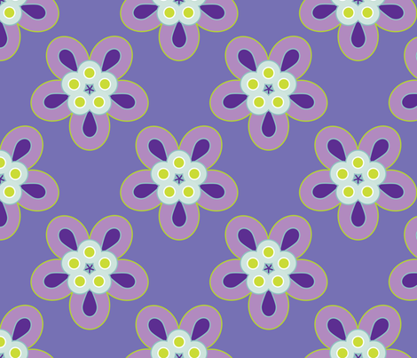Geometric Flowers - Purple fabric by anntuck on Spoonflower - custom fabric