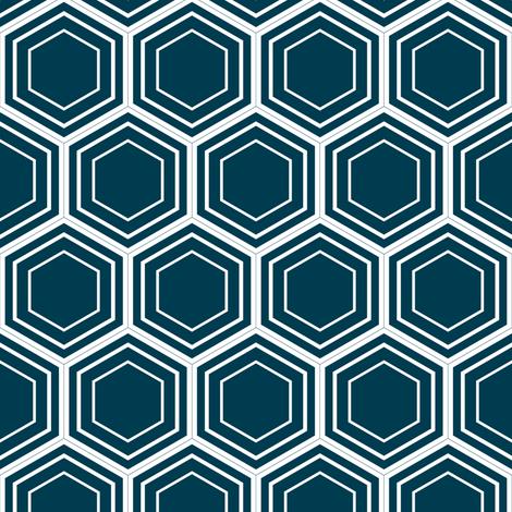 honeycomb (navy) fabric by amybethunephotography on Spoonflower - custom fabric