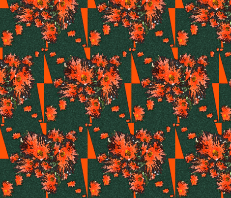 Gum tree flowers in action fabric by su_g on Spoonflower - custom fabric