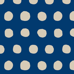Jumbo Dots in navy/khaki