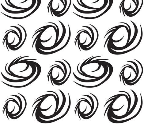 BWSwirls fabric by ghennah on Spoonflower - custom fabric