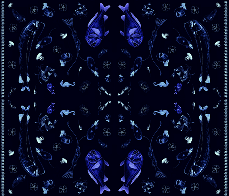 fish-fabric-fat-quarter-all-flat fabric by erinys on Spoonflower - custom fabric