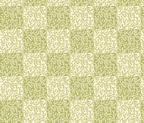 © 2011 Leaves Flow-pineapplemint fabric by glimmericks on Spoonflower - custom fabric