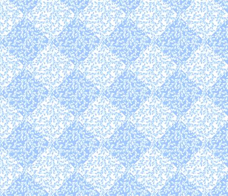 © 2011 Leaves Flow Diagonally - BlueSkies fabric by glimmericks on Spoonflower - custom fabric