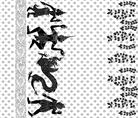 Thai Shadow, border print view in whole yardage fabric by yvonne_herbst on Spoonflower - custom fabric