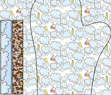 Welcome Spring! - oven mitt pattern fabric by majobv on Spoonflower - custom fabric