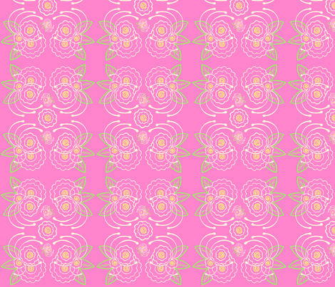 Whimsical_Floral for Breast Cancer Awareness fabric by cksstudio80 on Spoonflower - custom fabric