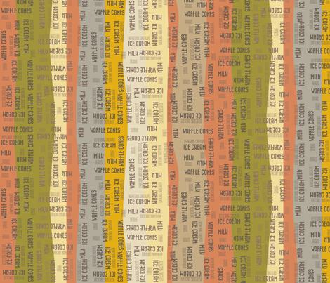 Ice Creamy Stripes - orangish fabric by catru on Spoonflower - custom fabric
