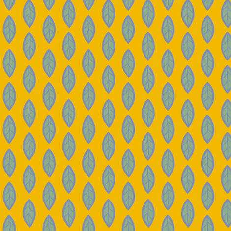 Blue Leaves fabric by cksstudio80 on Spoonflower - custom fabric
