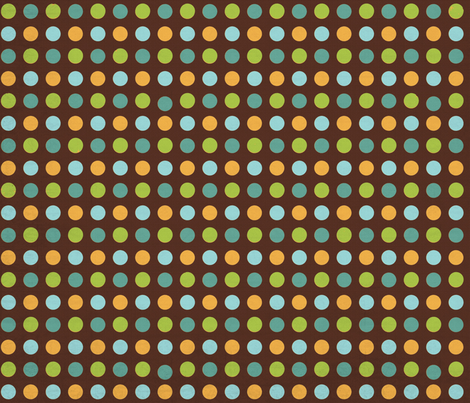 FriendlyMonstersDots fabric by jpdesigns on Spoonflower - custom fabric