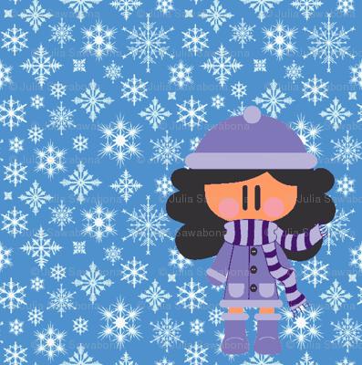 Winter girl (enhanced color)