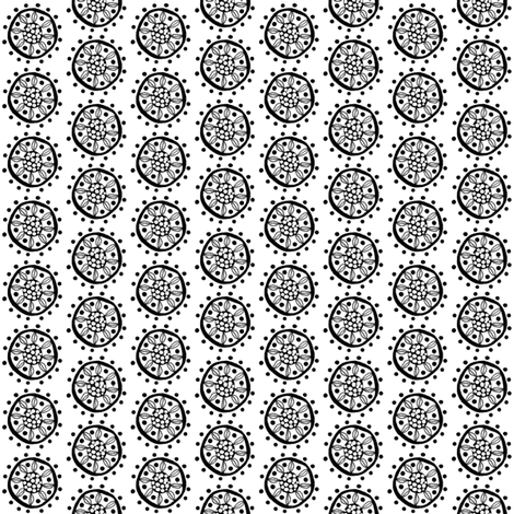 CircularFlower fabric by tallulahdahling on Spoonflower - custom fabric