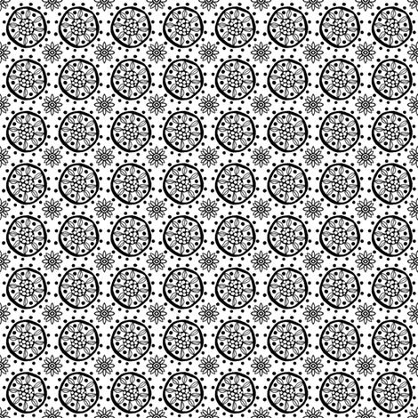 CircularFlower_2 fabric by tallulahdahling on Spoonflower - custom fabric