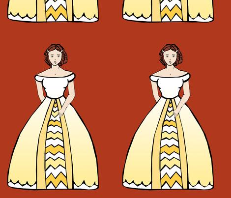 Donkey Skin: Doll 3 fabric by pond_ripple on Spoonflower - custom fabric