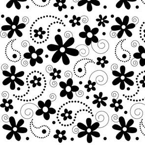 Paisley Abloom Black & White