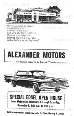 1959 Edsel dealership open house advertisement