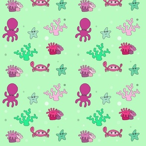 pink sea critters