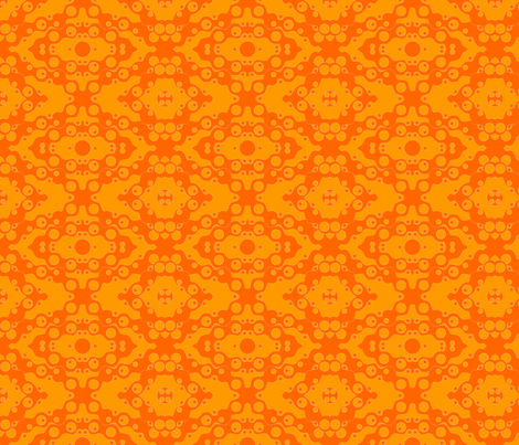 ©2011 Orange Soda fabric by glimmericks on Spoonflower - custom fabric