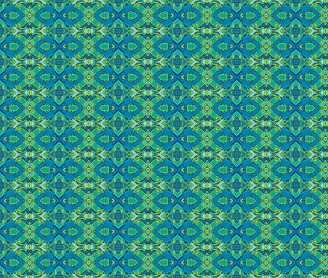 French Provencal Print in Blue and Green fabric by susaninparis on Spoonflower - custom fabric
