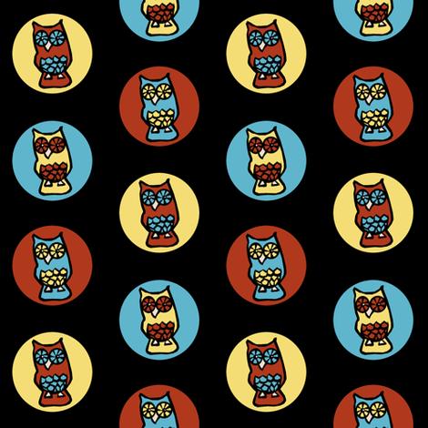 Owl Spots fabric by pond_ripple on Spoonflower - custom fabric