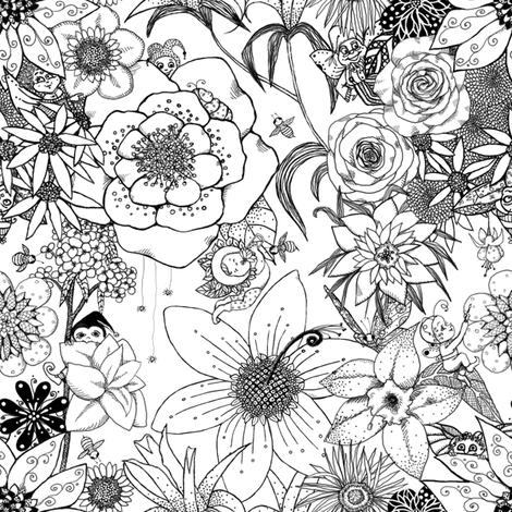 Flower-Fairy Family fabric by tallulahdahling on Spoonflower - custom fabric
