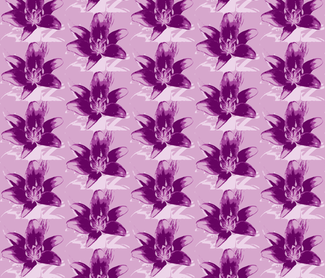 purple lily fabric by melodiemw on Spoonflower - custom fabric