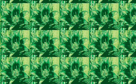 green lily fabric by melodiemw on Spoonflower - custom fabric