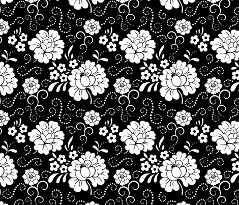 midnightblooms fabric by shirlene on Spoonflower - custom fabric