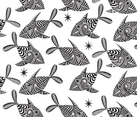 Ocean Tapa fabric by spellstone on Spoonflower - custom fabric