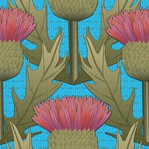 Honey and Thistle on Turquoise