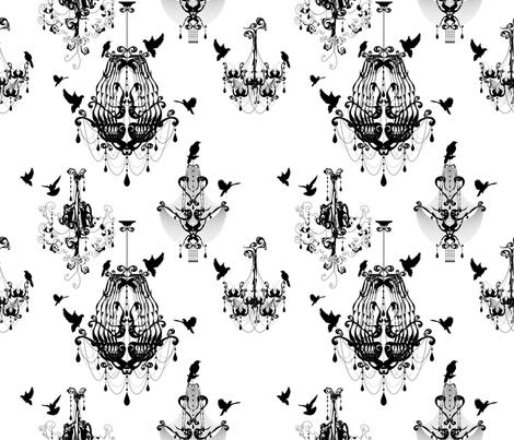 Chandeliers Take Flight fabric by rachelmense on Spoonflower - custom fabric