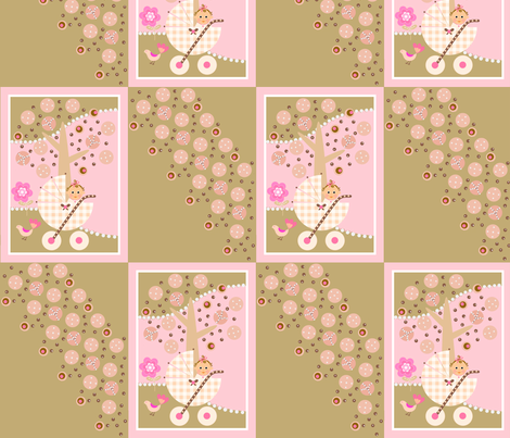 Yummy baby buggy / patch fabric by paragonstudios on Spoonflower - custom fabric