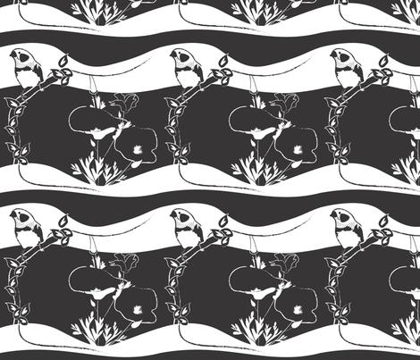 bird_fabricBWSQ fabric by stephan_y on Spoonflower - custom fabric