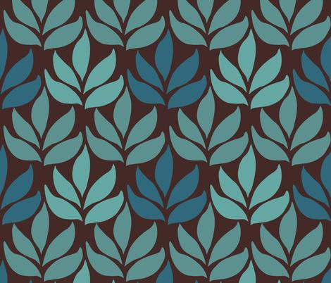 LG-leaf-texture-minagreen-DARKBROWN fabric by mina on Spoonflower - custom fabric