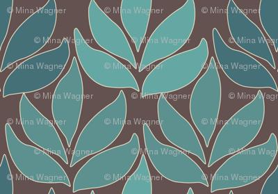 Cloisonne_med_leaf_texture_bluegreens_BROWN