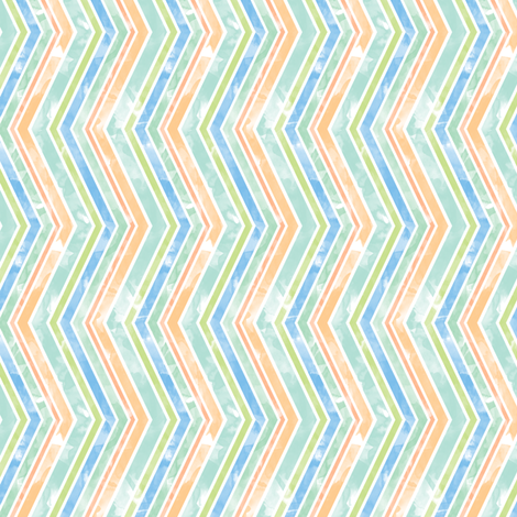 Watercolor Zig Zags fabric by leighr on Spoonflower - custom fabric