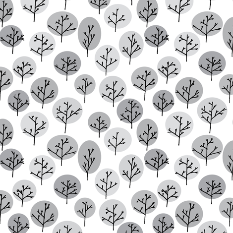 Trees in Winter fabric by leighr on Spoonflower - custom fabric