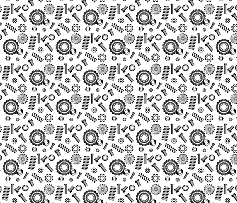 springs_and_things_white fabric by cjldesigns on Spoonflower - custom fabric