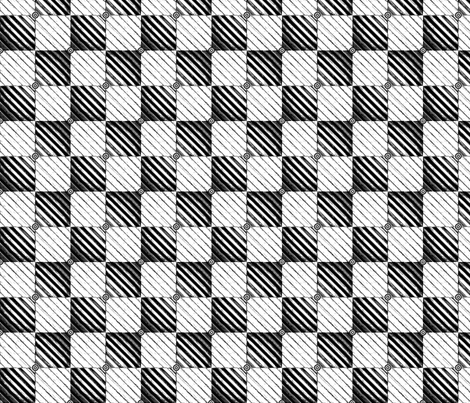 Tin_Robots_check fabric by cjldesigns on Spoonflower - custom fabric