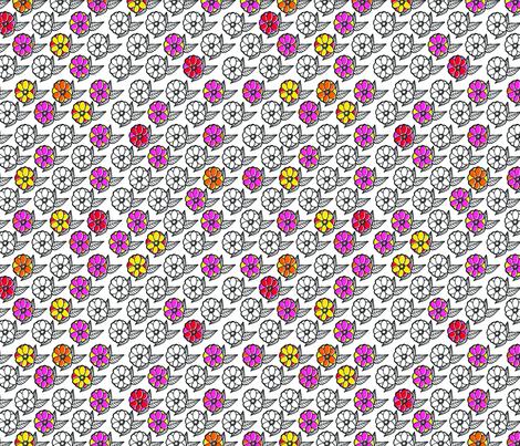 Bright Peony fabric by erinina on Spoonflower - custom fabric