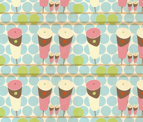 Push Up Ice Cream fabric by the_lovely on Spoonflower - custom fabric