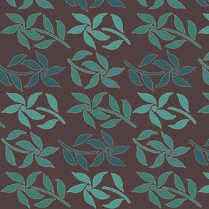 Cloisonne-SM-4flowers-4Bluegreens-BROWN