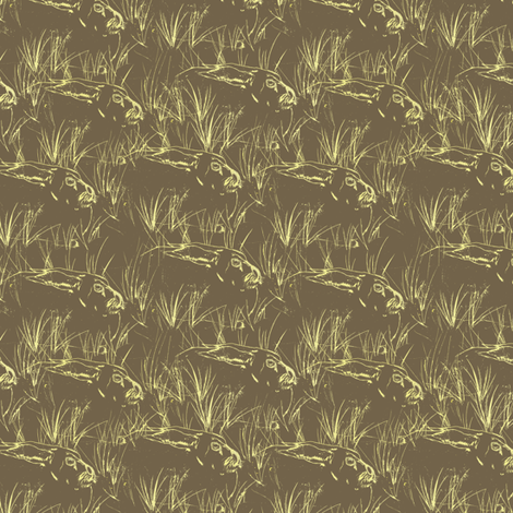 Resting Rabbits fabric by petals_fair_(peggy_brown) on Spoonflower - custom fabric