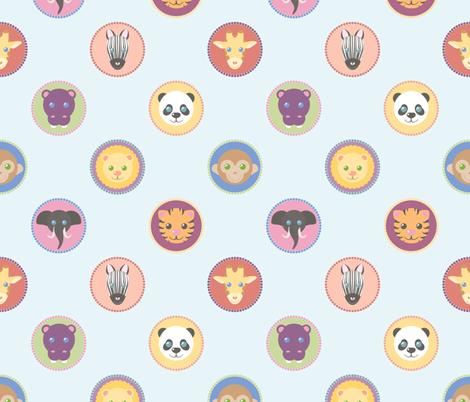Zoo Pattern fabric by juliematthews on Spoonflower - custom fabric