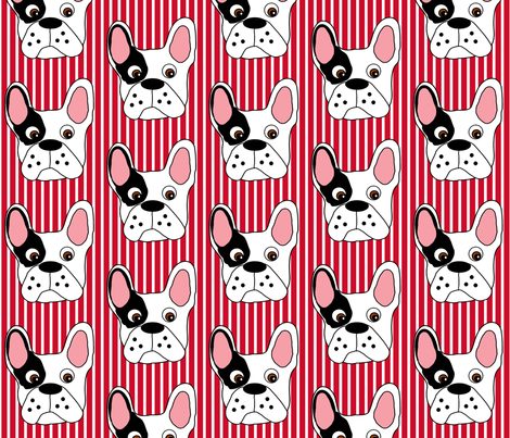Smudge the Bulldog  fabric by missyq on Spoonflower - custom fabric