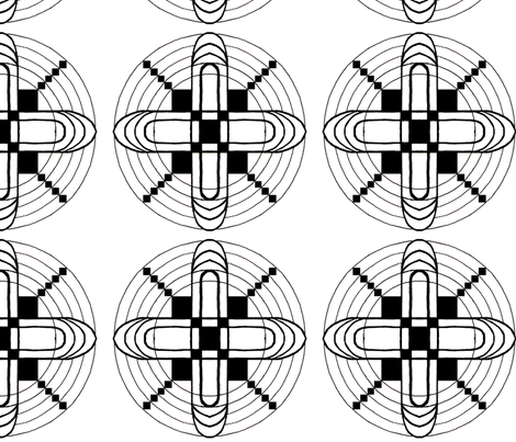 Graphic Black & White fabric by lothar on Spoonflower - custom fabric