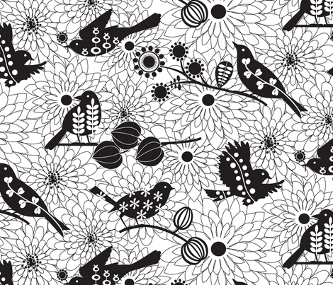Nest builders fabric by kayajoy on Spoonflower - custom fabric