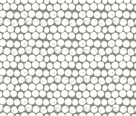 cork polka truffle white fabric by scrummy on Spoonflower - custom fabric