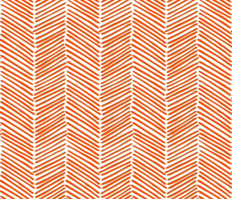 Freeform Arrows Large in persimmon fabric by domesticate on Spoonflower - custom fabric